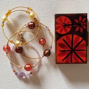 Four Italian Glass Bracelets